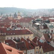 Vue sur les toits tchecs