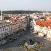 Prague et sa place centrale