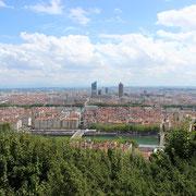 La belle ville de Lyon, lors d'un été ensoleillé