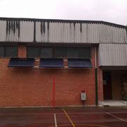 Instalación solar térmica, en Pabellón Polideportivo