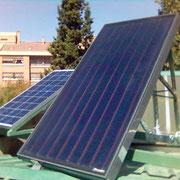 Instalación mixta de energía solar térmica y fotovoltaica