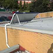 Equipo solar térmico, tipo drain-back, en Escuela Infantil
