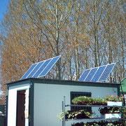 Instalación solar fotovoltaica aislada, en Vivero de plantas