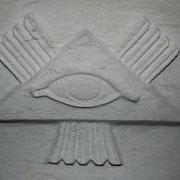 Symbol am Taufstein