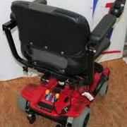 Rückansicht Elektromobil Mobilis M35 rot