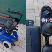 Einhandbedienung Elektromobil Mobilis M35 blau