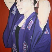 Maria 50x70 cm acrilico su tela . Sold