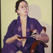ragazza con kimono 2 80x100 acrilico su tela