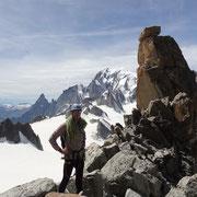 Erste Kletterstelle geschafft!
