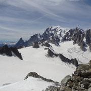 Aussicht auf das Mont Blanc-Massiv