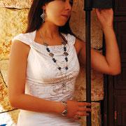 Juego Piedras Azules (Collar, Aretes, Pulsera) R- 302