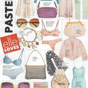 """in der SA ELLE Dezember 2011 - rechst oben die """"possum bag"""""""