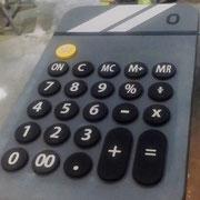 calculadora gigante, elemento decorativo