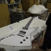 guitarra photocall, como atrezzo de boda