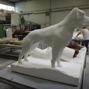 Perro escultura