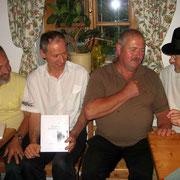 Siegfried, Manfred, Hansi und ich
