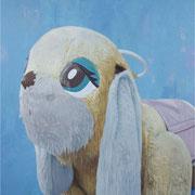 「遊園地のイヌ」W803×H1303 acryl / canvas