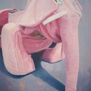 「遊園地のゾウ」W803×H1303 acryl / canvas