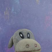 「遊園地のキリンⅡ」W803×H1303 acryl / canvas