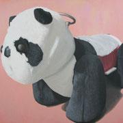 「遊園地のパンダ」W910×H727 acryl / canvas