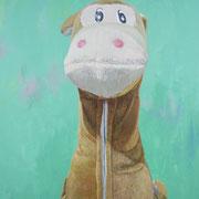 「遊園地のウマ」W803×H1303 acryl / canvas