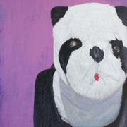 「遊園地のパンダⅡ」W803×H1303 acryl / canvas