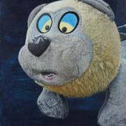 「クマの肖像」W318×H410  acryl / canvas