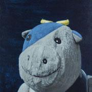 「ウシの肖像」W318×H410  acryl / canvas