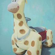 「遊園地のキリン」W727×H910 acryl / canvas