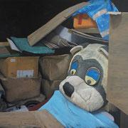 「遊園地の陰Ⅱ」W1303×H970 acryl / canvas