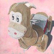 「遊園地のロバ」W300×H300 acryl / canvas