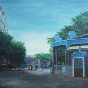 「閉園前」W1620×H1120 acryl / canvas
