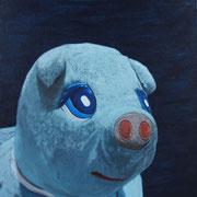 「ブタの肖像」W318×H410  acryl / canvas