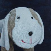 「イヌの肖像」W318×H410  acryl / canvas