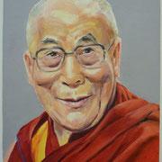 Portrait in Öl - Dalai Lama (50x60cm)