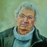 Portrait in Öl - Gerhard Polt (70x70cm)