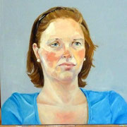 Portrait in Öl - junges Mädchen (50x50cm)
