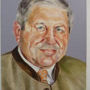 Portrait in Öl - Herr K. mit grüner Jacke (50x60cm)