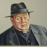 Portrait in Öl - Ottfried Fischer (Pfarrer Braun) (60x80cm)