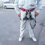 無足場工法の装備 ハーネス・カラビナ・懸垂下降器