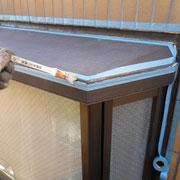 無足場工法による台形出窓のシーリング工事
