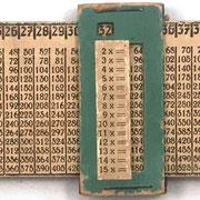 Regla para multiplicación KAISERMÜLHLE, Walter A. Küchler (Alemania). hasta 15x15, hacia 1910, 24x6.5 cm
