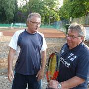 lks.Peter Lehnen und Dieter Gattermann (Organisator und Spielplangestalter der Clubmeisterschaft)