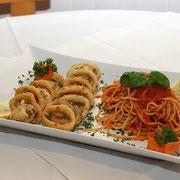 Calamares mit Spaghetti