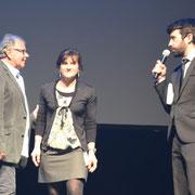 M. Le Président de l'OMS, M. ROUSSEAU et Nathalie CLEMENT, TERRES NATHALES