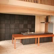 壁面収納のあるキッチン