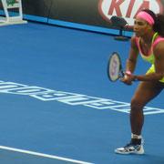 Serena wartet auf ihren Return