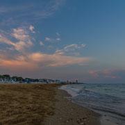 ein schöner Abend am Strand von Lido de Jesolo