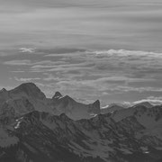 black and white Nebelhorn - Oberstdorf