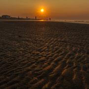 Sonnenaufgang am Strand von Lido de Jesolo
